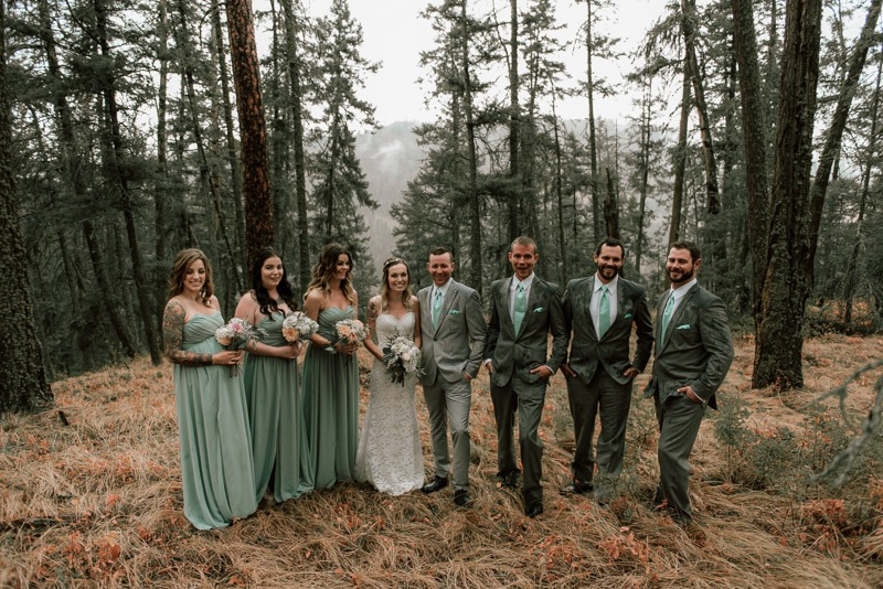 rainy wedding - amazing forest photoshoot - forest wedding in the woods and trees