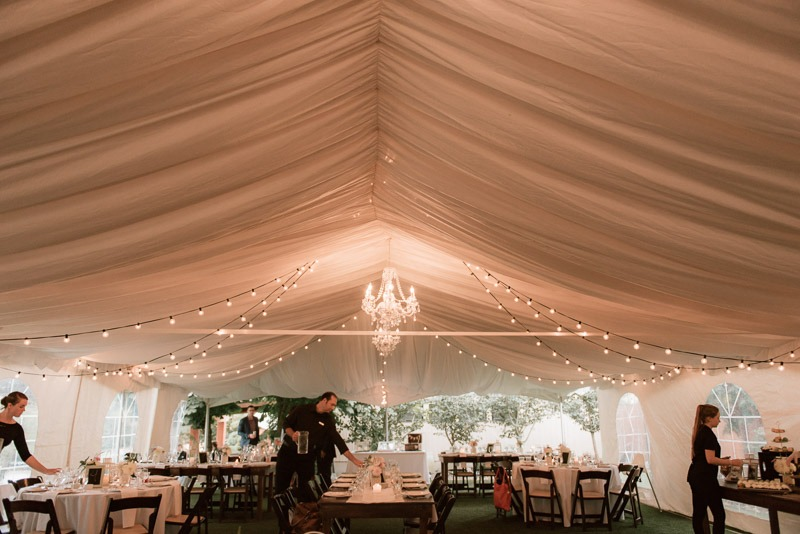 reception tent - durali villa wedding reception in vernon bc outdoors details