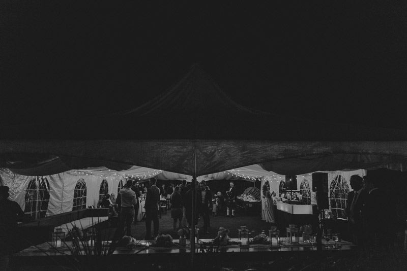 outside view of the tent at durali villa vernon - tailored fit photography