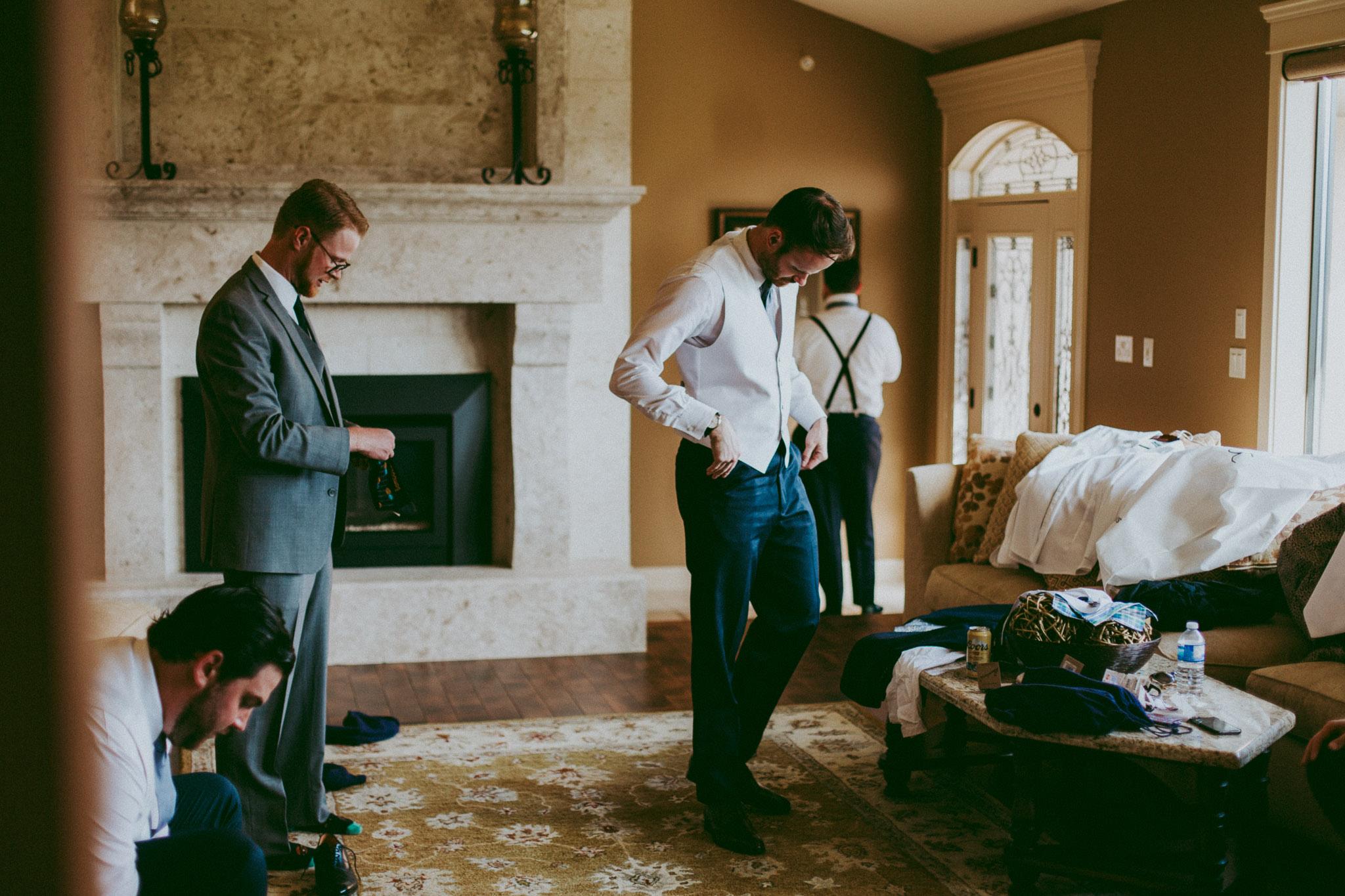 Groom preps at this Durali Villa Vernon Wedding