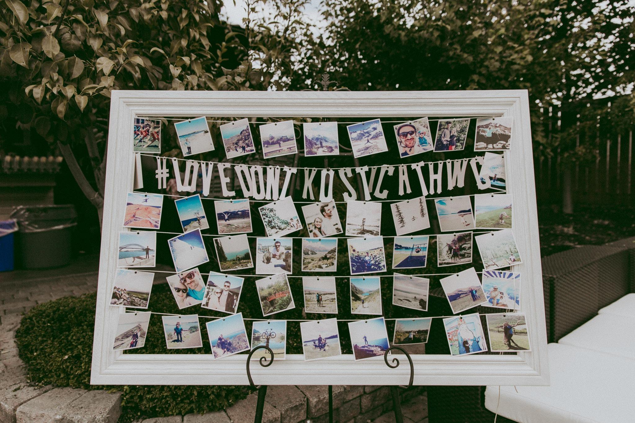 Wedding Photoboard Polaroid