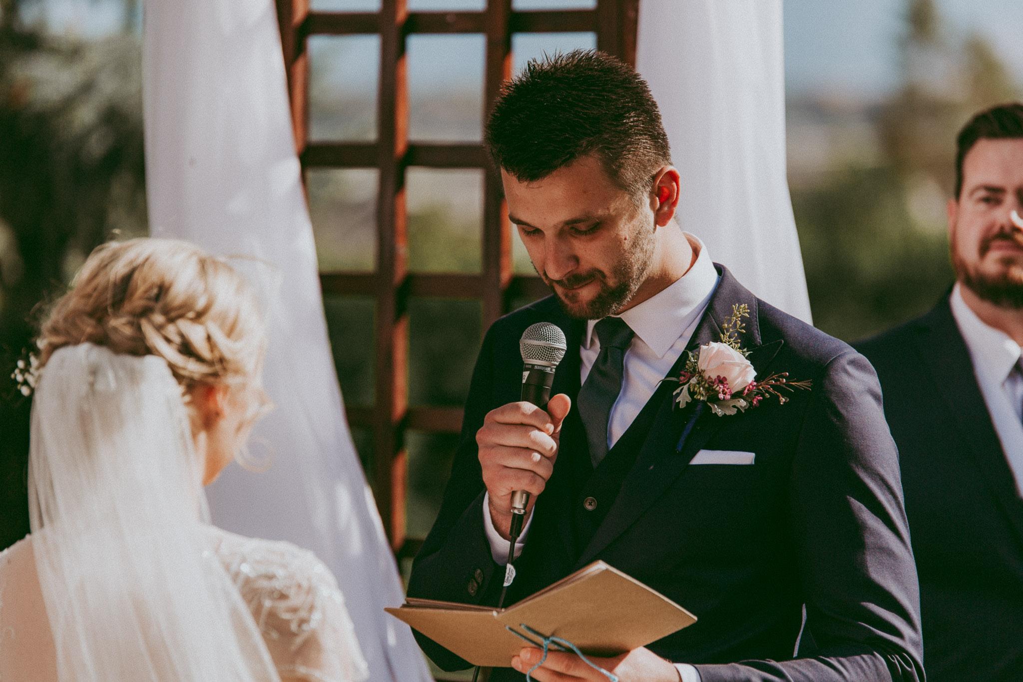 Personal Vow Exchange at Durali Villa Wedding - Vernon Wedding Photos