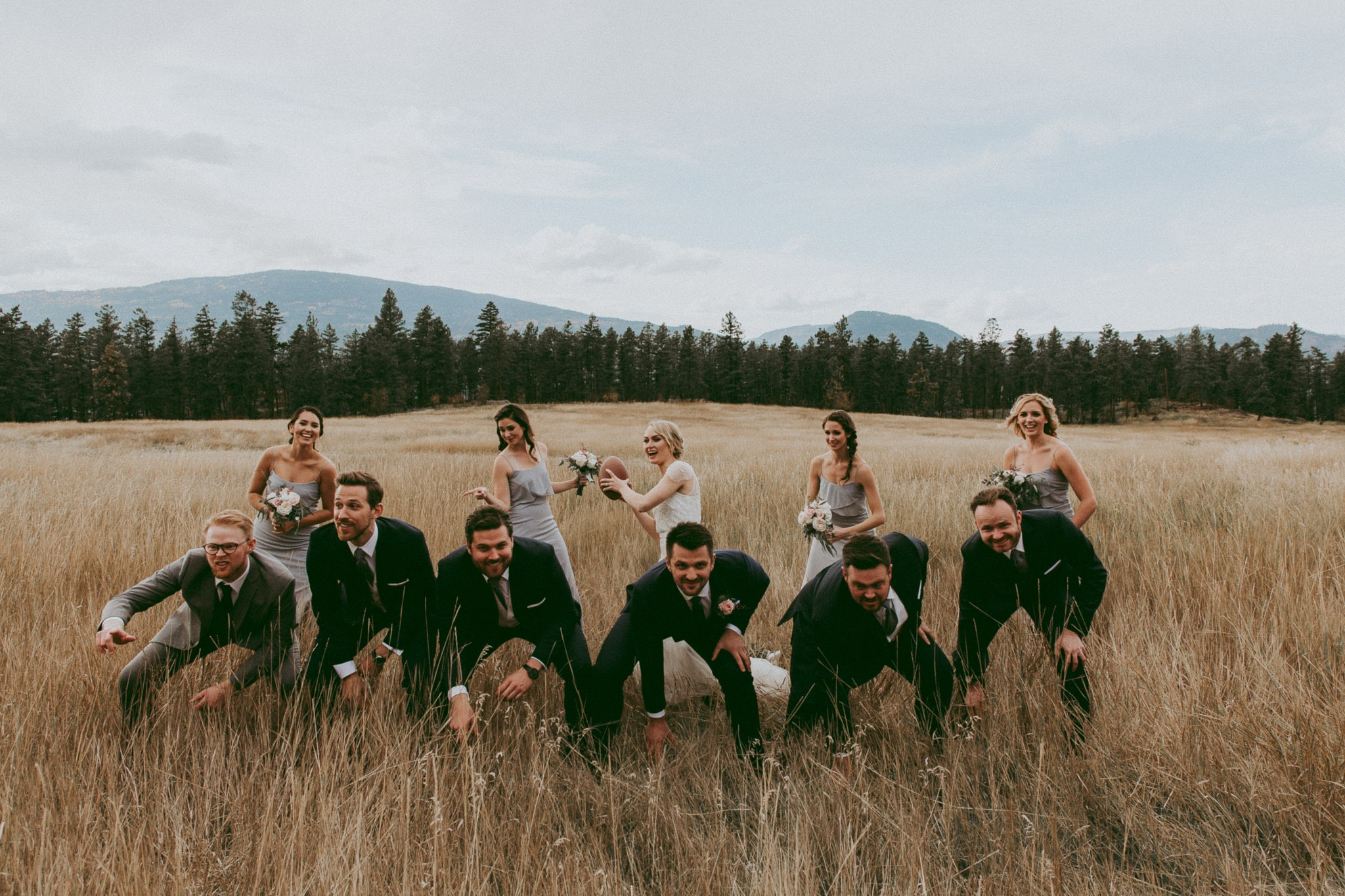 Wedding Football! Mountain Wedding Photographer