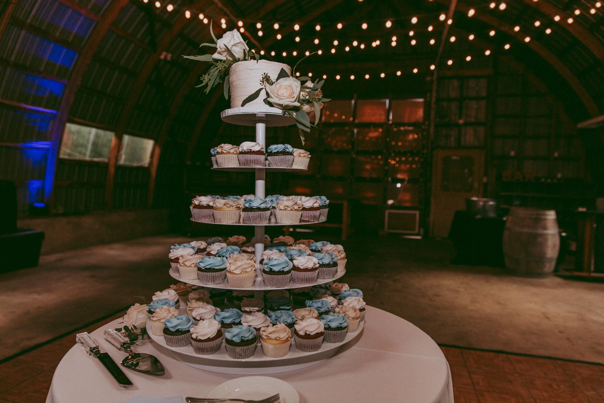 Cupcake Cake Tier at Durali Villa Wedding