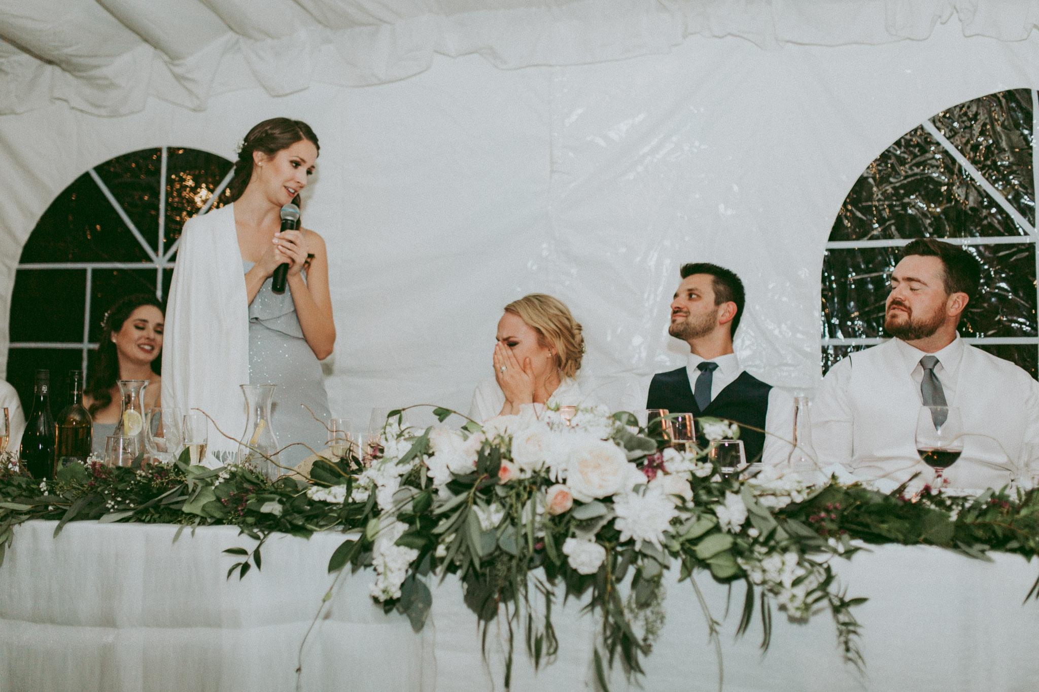 Durali Villa Wedding - Reception in the tent