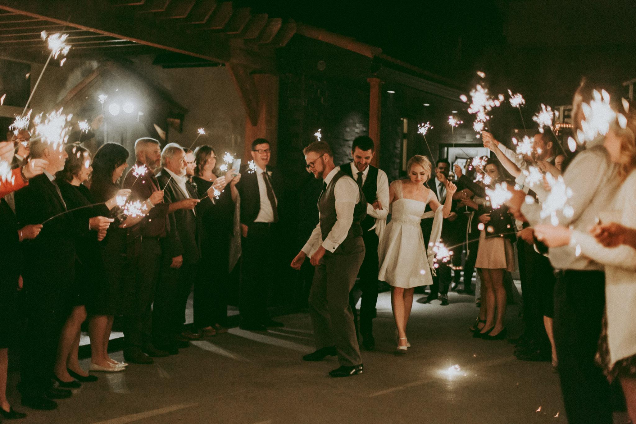 Durali Villa Wedding - Sparkler Exit