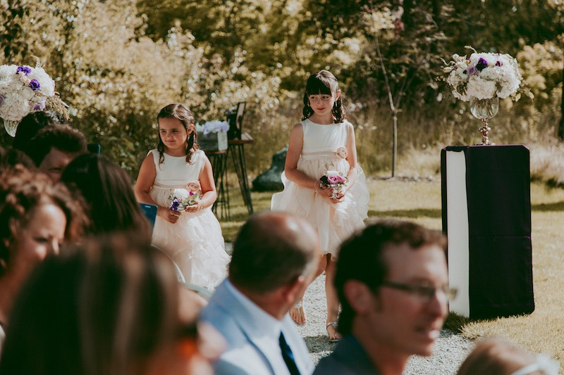 flower girls outdoor wedding venue kelowna