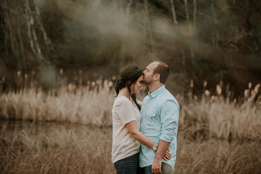 At the pond by Predator Ridge - Engagement Photos at Predator Ridge Resort Wedding Venue in Vernon
