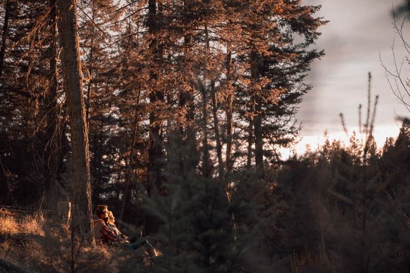Kelowna Forest Engagement Photos
