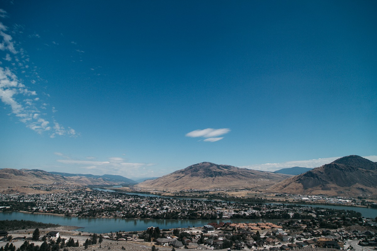 view of kamloops okanagan valley from tru thompson river university