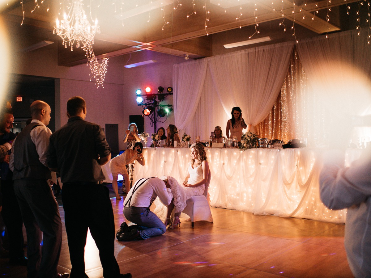dance floor at tru wedding reception at thompson river university